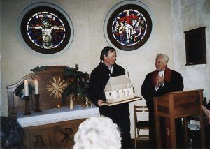 Modell der Kirche - gebaut von Herrn Klaus Springer